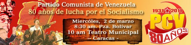ORGANIZACIÓN COMUNISTAS MIRANDA CENTRO INVITA A MILITANCIA Y AMIGOS A LOS ACTOS DEL 80 ANIVERSARIO