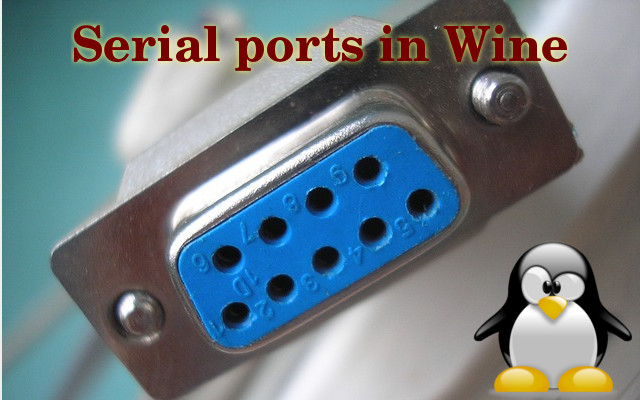 Set up the serial port in Wine