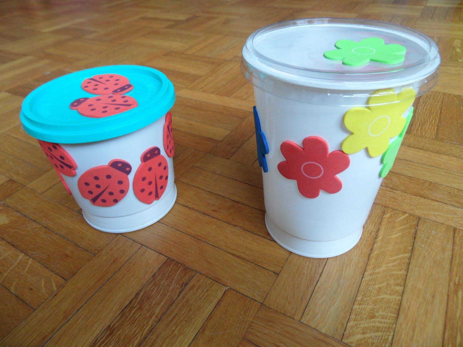 Adornos con envases de leche diy 1 recicla botes de - Manualidades con envases ...