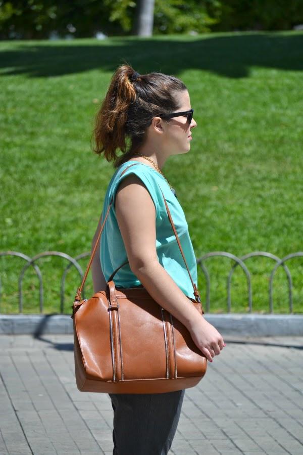 look_primavera_camiseta_verde_agua_bailarinas_purpurina_nudelolablog_02