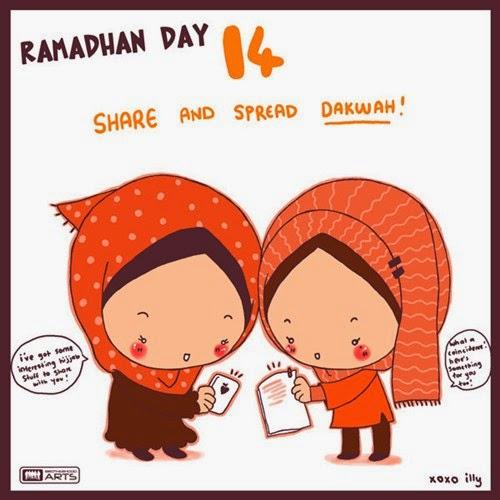 Kartun Ramadhan Lucu di Sepuluh Hari kedua di bulan Ramadhan