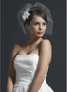 wedding veils for short hairstyles