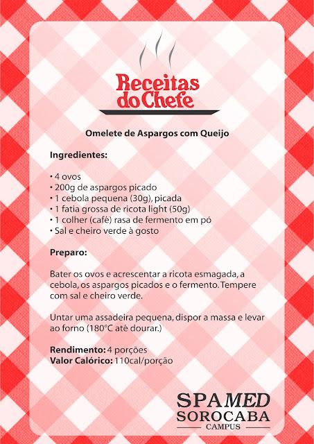 Omelete de Aspargos com Queijo
