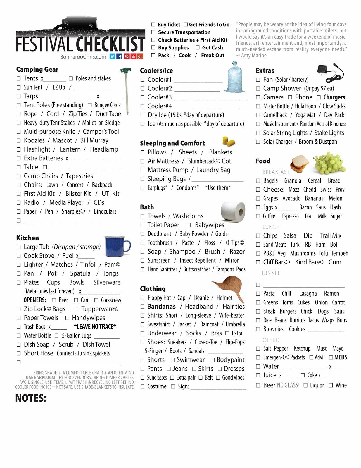 f2c9bbcc8a Music Festival Checklist