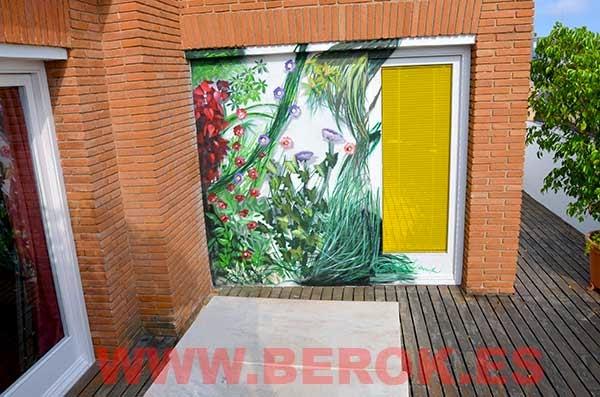 Graffiti terraza jardín