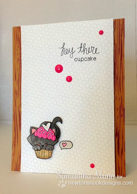 Cupcake & Kitty card by Samantha Mann for Newton's Nook Designs