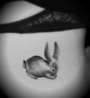 A little fussy bunny tattoo