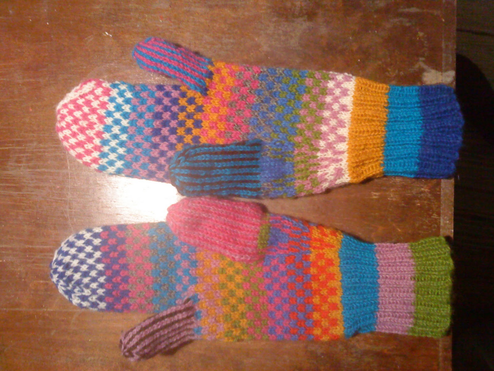 Winter riding mittens - KNITTING
