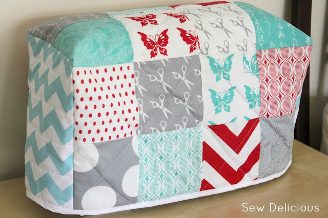 quilted patchwork sewing machine cover