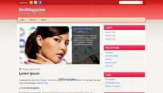 RedMagazine Blogger Template