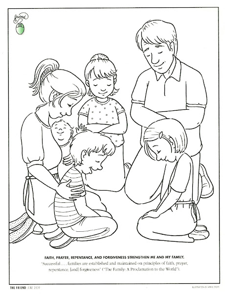 Family Prayer Coloring Page