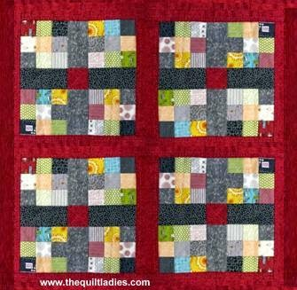 quilt pattern for a red 9 patch quilt block