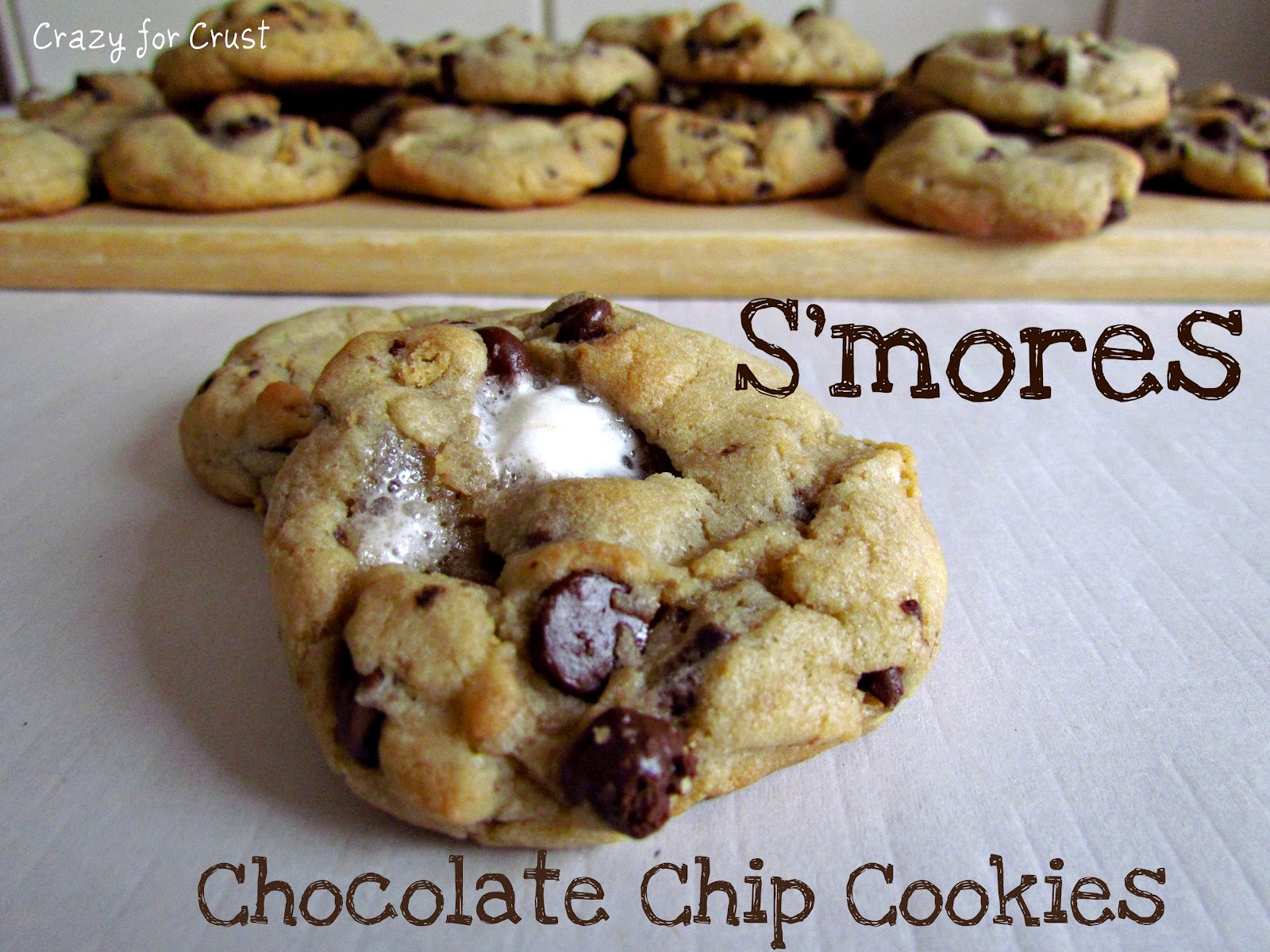 mores Cookies - Crazy for Crust