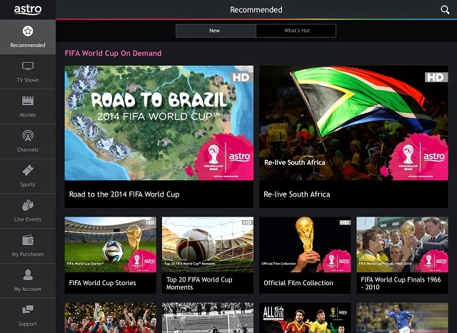 Astro On The Go, the app to catch Astro's programmes, on the go!