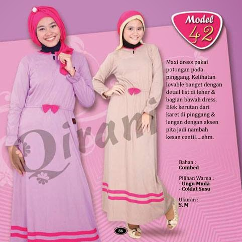 Contoh Baju Muslim Bahan Kaos