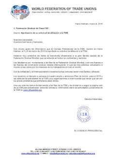 La Federación Sindical de Clase ingresa en la FSM