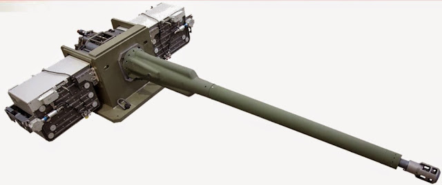 XM813 30mm Gun with Linkless Ammo Boxes on Each Side