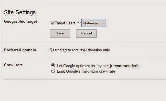 target specific country in seo