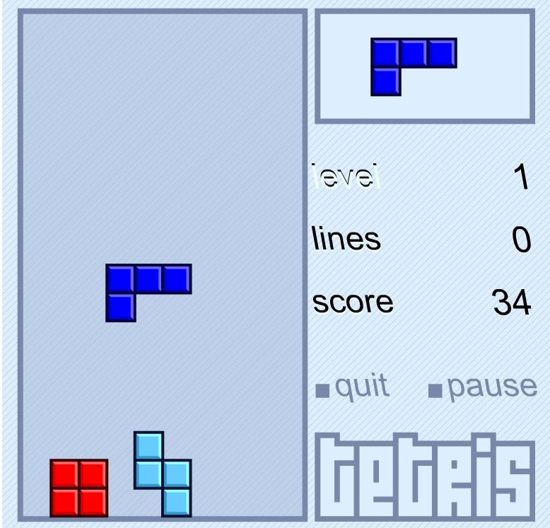 Games Xả Stress với trò chơi cổ điển Flash Tetris (Xếp gạch)