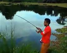Gila Mancing Dapat Ikan Rohu Besar