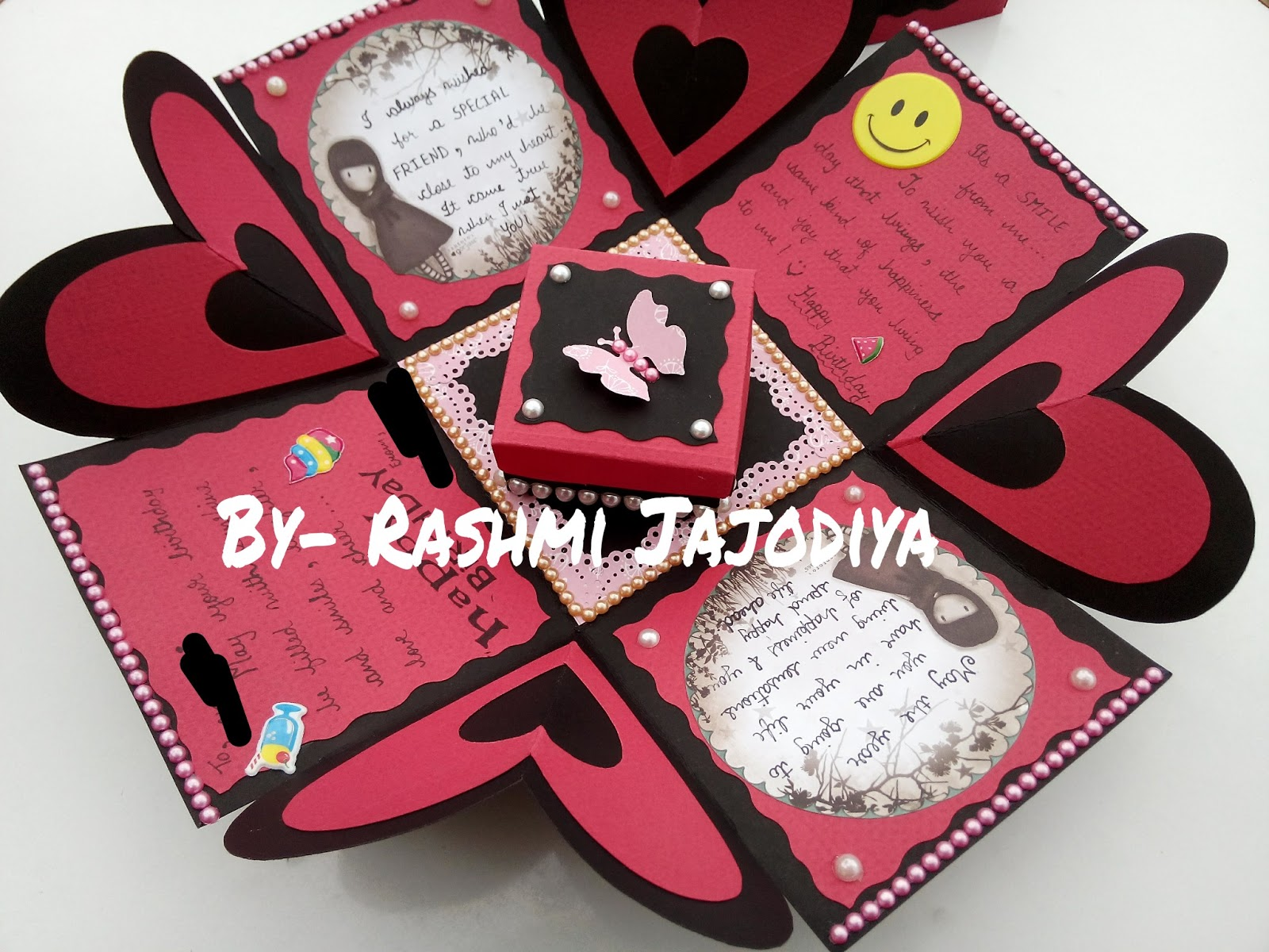 Single layer explosion box card by rashmi ra004 make ur moments