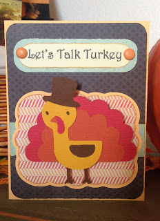 Cricut, Create A Critter 2, Elegant Edges, Thanksgiving Card, Action Wobbles