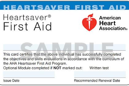 Aha First Aid Card