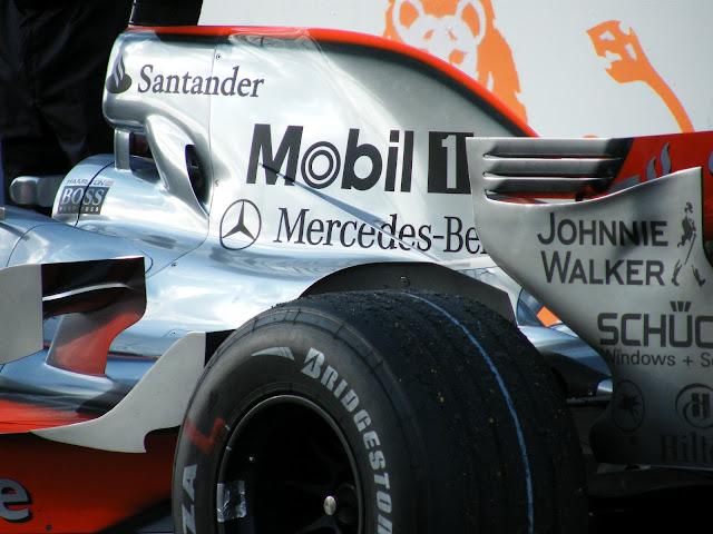 Lewis Hamilton's winning F1 car Australian Grand Prix 2008