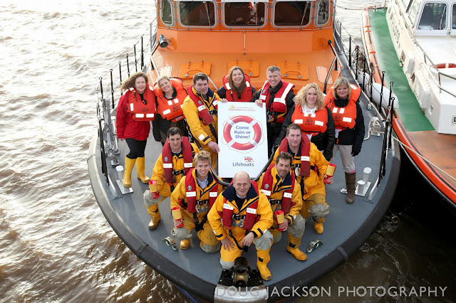 YBS PR team and Crew of Spurn Point Lifeboat - PR Launch pictures