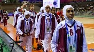 Qatar women's basketball team.