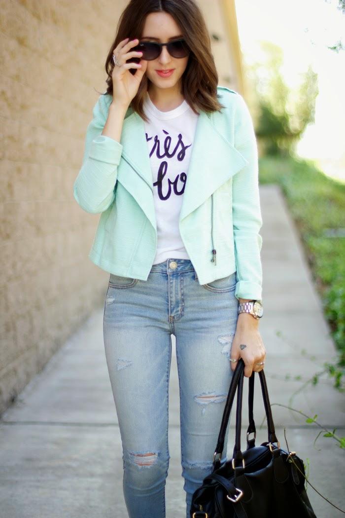 Pastel Moto Jacket