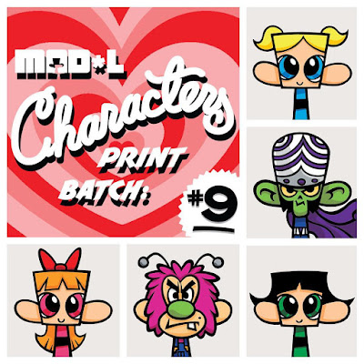 Mad*l Characters Print Series Power Puff Girls Themed Batch 9 by MAD - Blossom, Bubbles, Buttercup, Mojo Jojo and Fuzzy Lumpkins