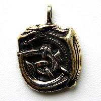 купить кулон уроборос скандинавская символика кельтика бронзовые украшения
