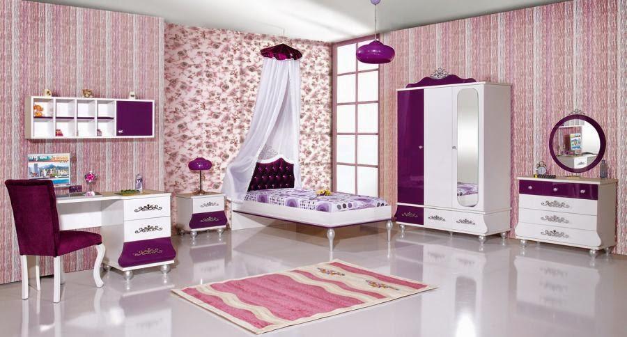 Dormitorios de ni a en rosa y lila dormitorios colores y for Dormitorio rosa