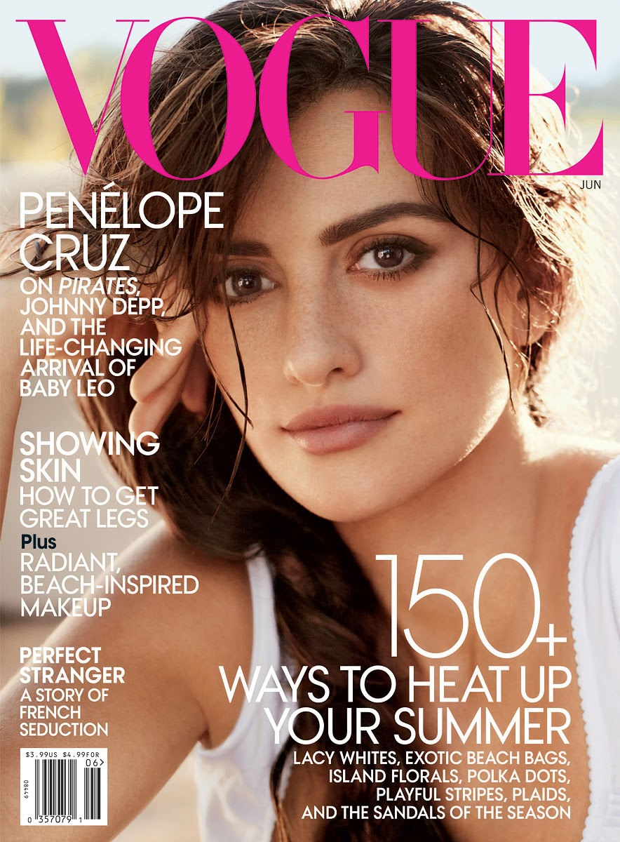 Penelope Cruz is covering the June 2014 issue of Vogue magazine and she looks great.
