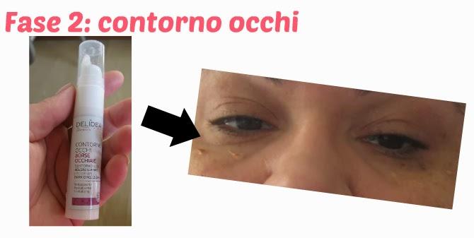 fase 2: uniformare il contorno occhi con prodotti ecobio