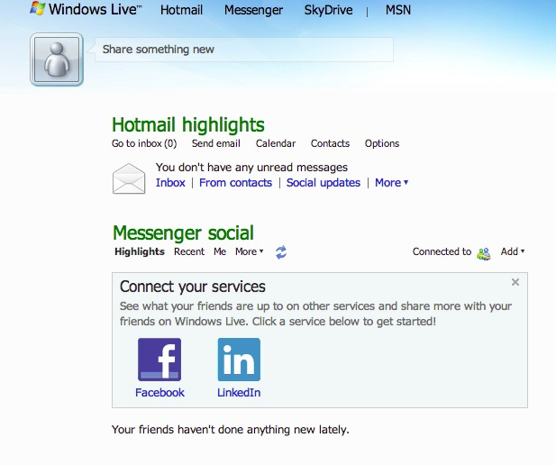 messenger hot mail iniciar sesion