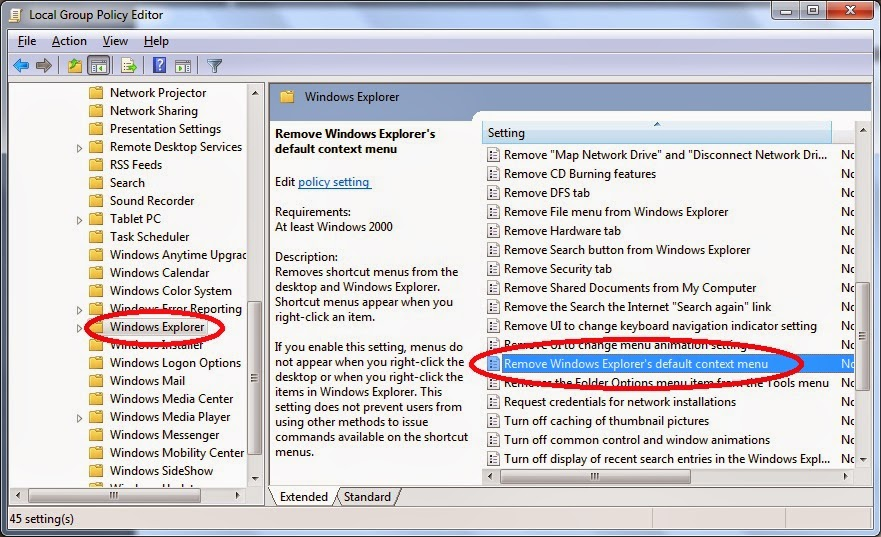 Cara Menonaktifkan Klik Kanan Pada File atau Folder