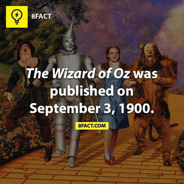 The Wizard of Oz was published on September 3, 1900.