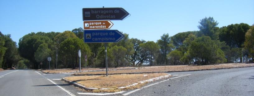 Indicações da Barragem de Odivelas, Parque de Campismo e parque de merendas