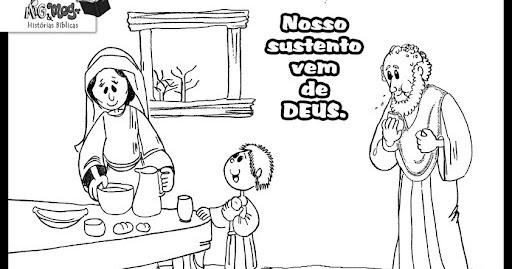 Resultado de imagem para Elias e a viúva de Sarepta para crianças