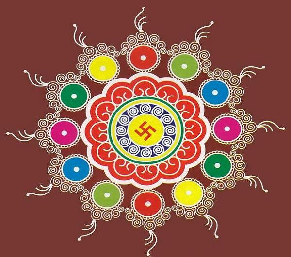 Rangoli Designs for new year 2016