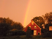 Rainbow over family farm