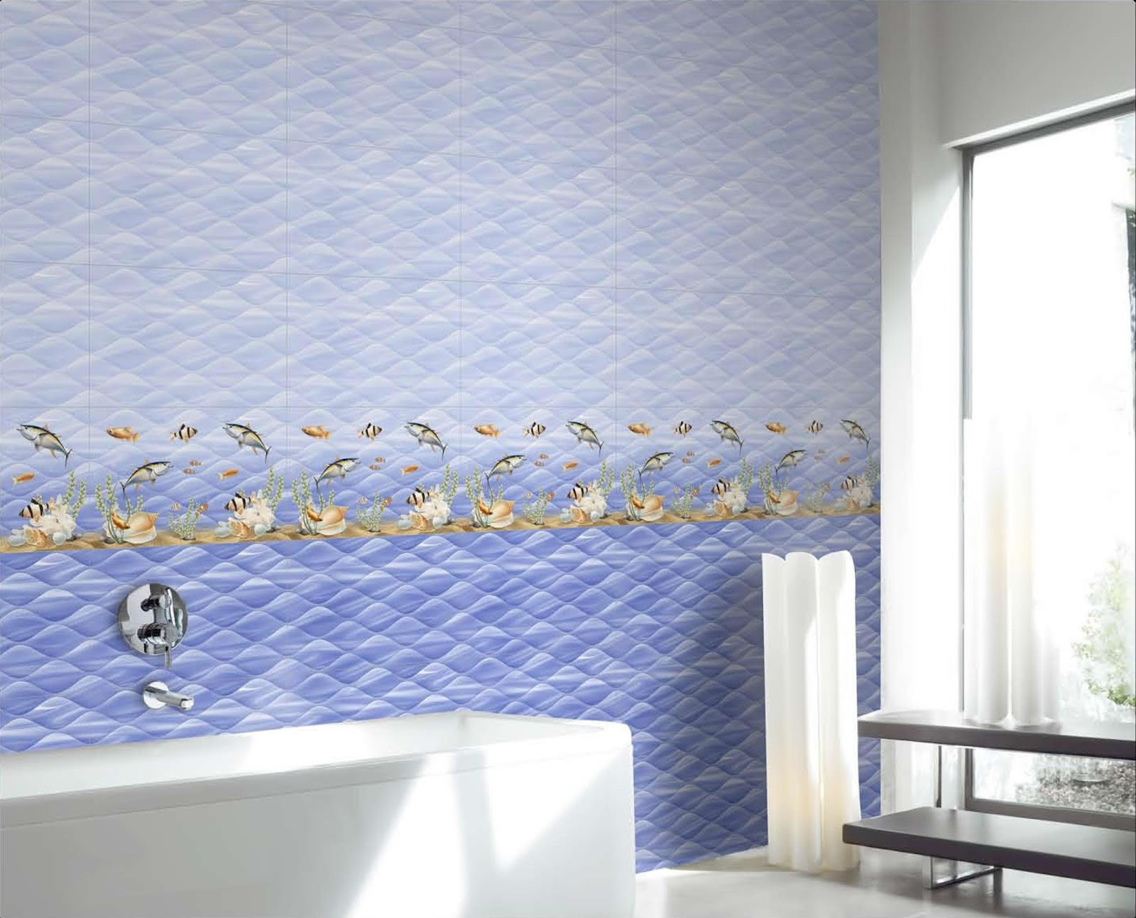 Fish tiles bathroom - Tiles Hub