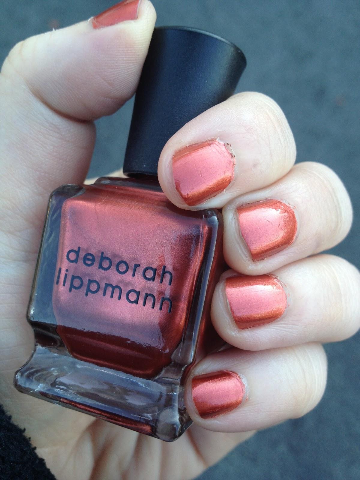 nycmakeuplover : Deborah Lippmann Brick House Nail Lacquer Review ...
