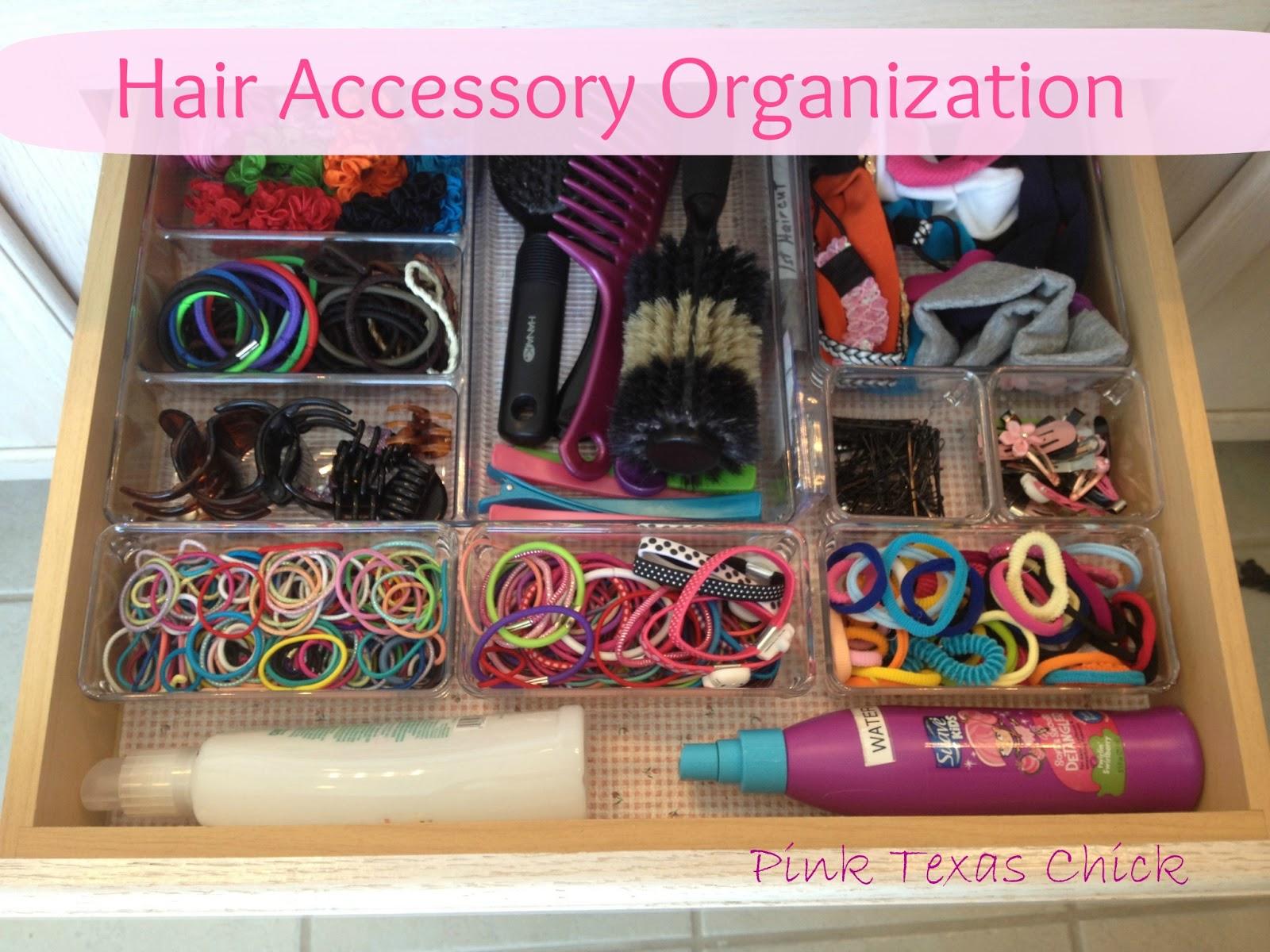 pink texas chick organizing da hair accessories. Black Bedroom Furniture Sets. Home Design Ideas