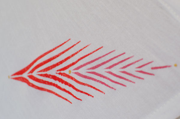 royal designs african plumes stencil in bold colors