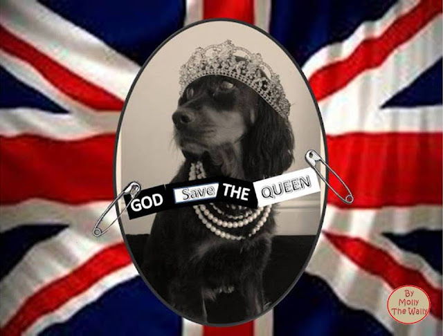 God Save The Queen, The Sex Pistols album cover by Molly The Wally