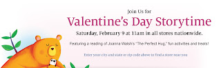 Free Valentine's Day Storytime at Barnes & Noble on February 9th