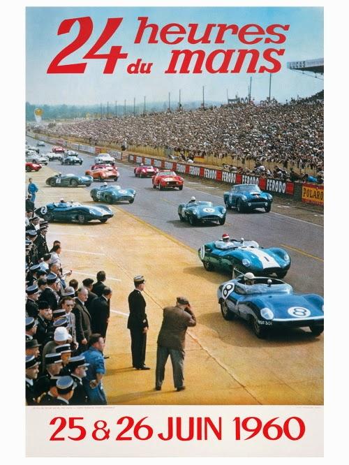 Affiche officielle des 24 Heures du Mans 1960